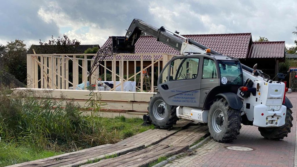 Schlüsselfertiges Bauen in Holzrahmenbauweise  Schritt 2: Vorbereitung Balkenlage
