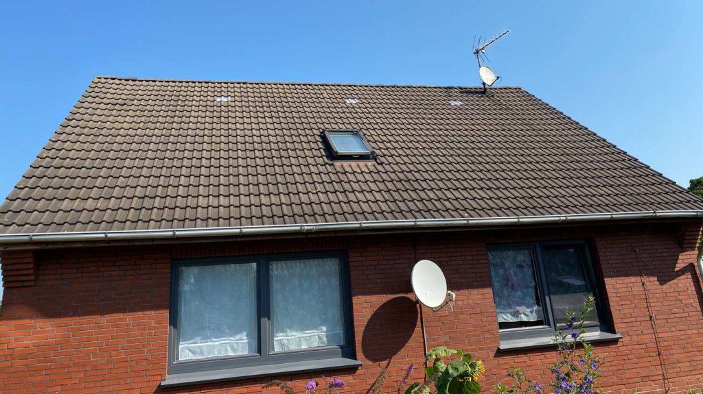 Vorher: Dachsanierung und energetisches Dämmen mit  Holzfaserdämmstoff